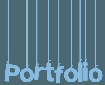 Palabra portfolio cabecera