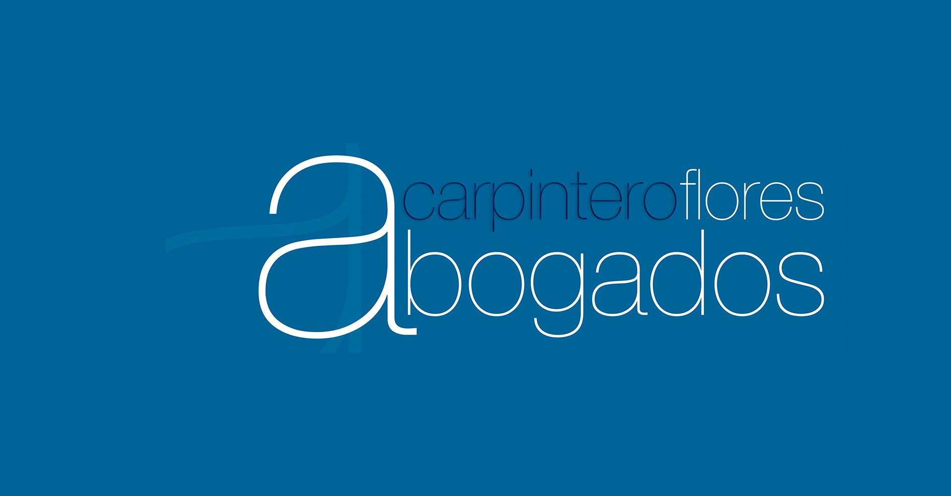 Carpintero Flores Abogados | Logo azul