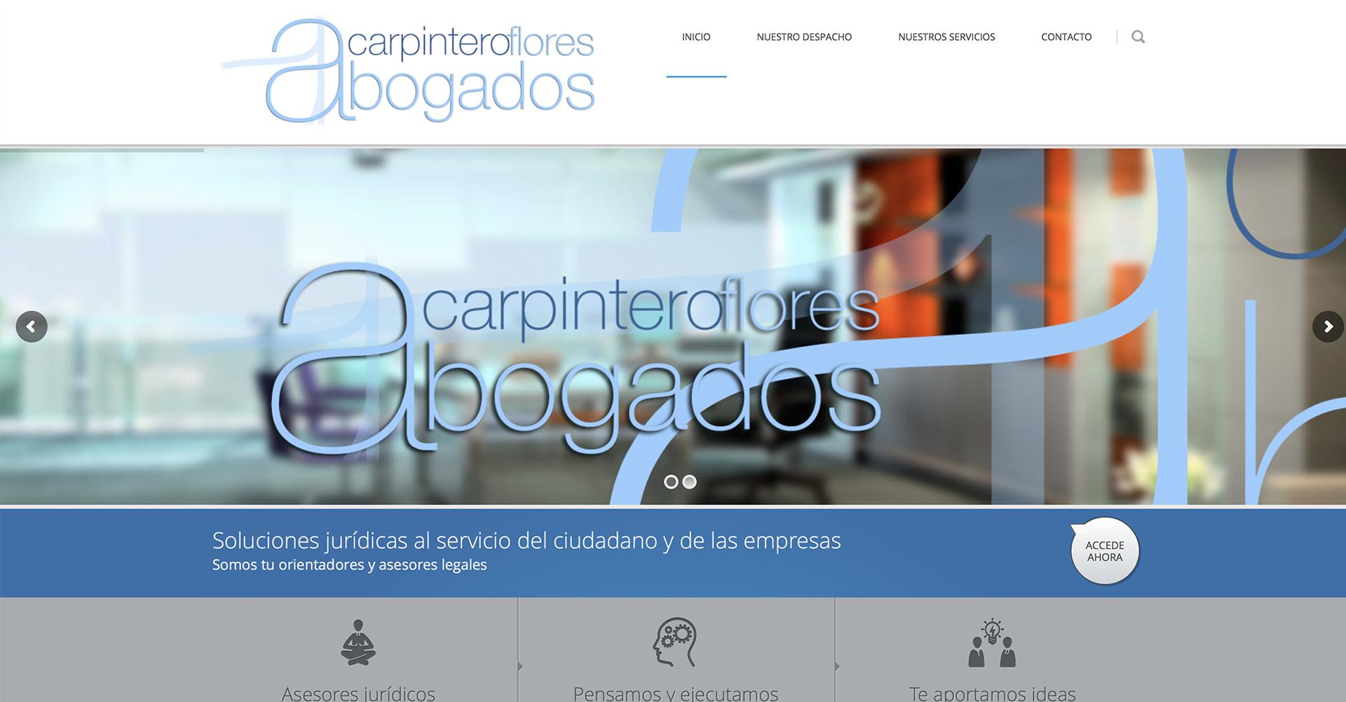 Carpintero Flores Abogados | Web