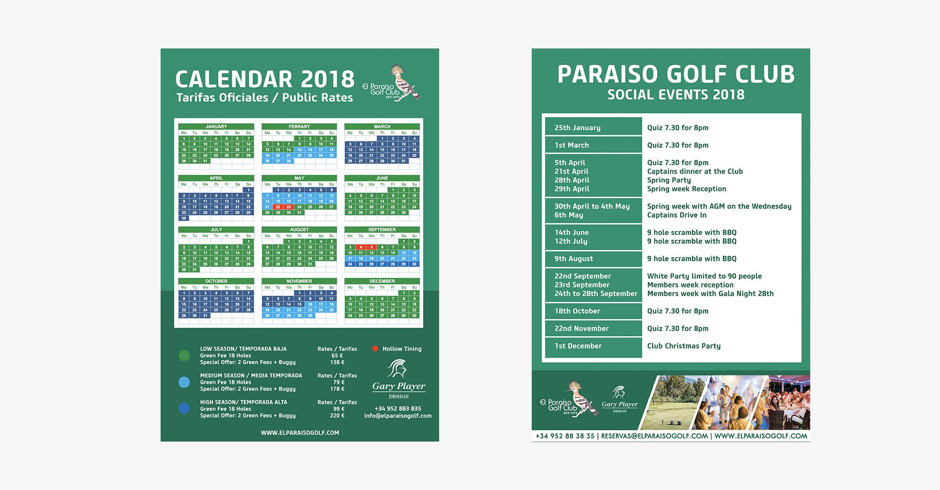 El Paraiso Golf | Carteleria