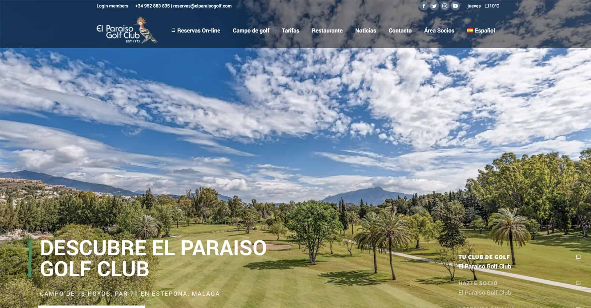 El Paraiso Golf | Web