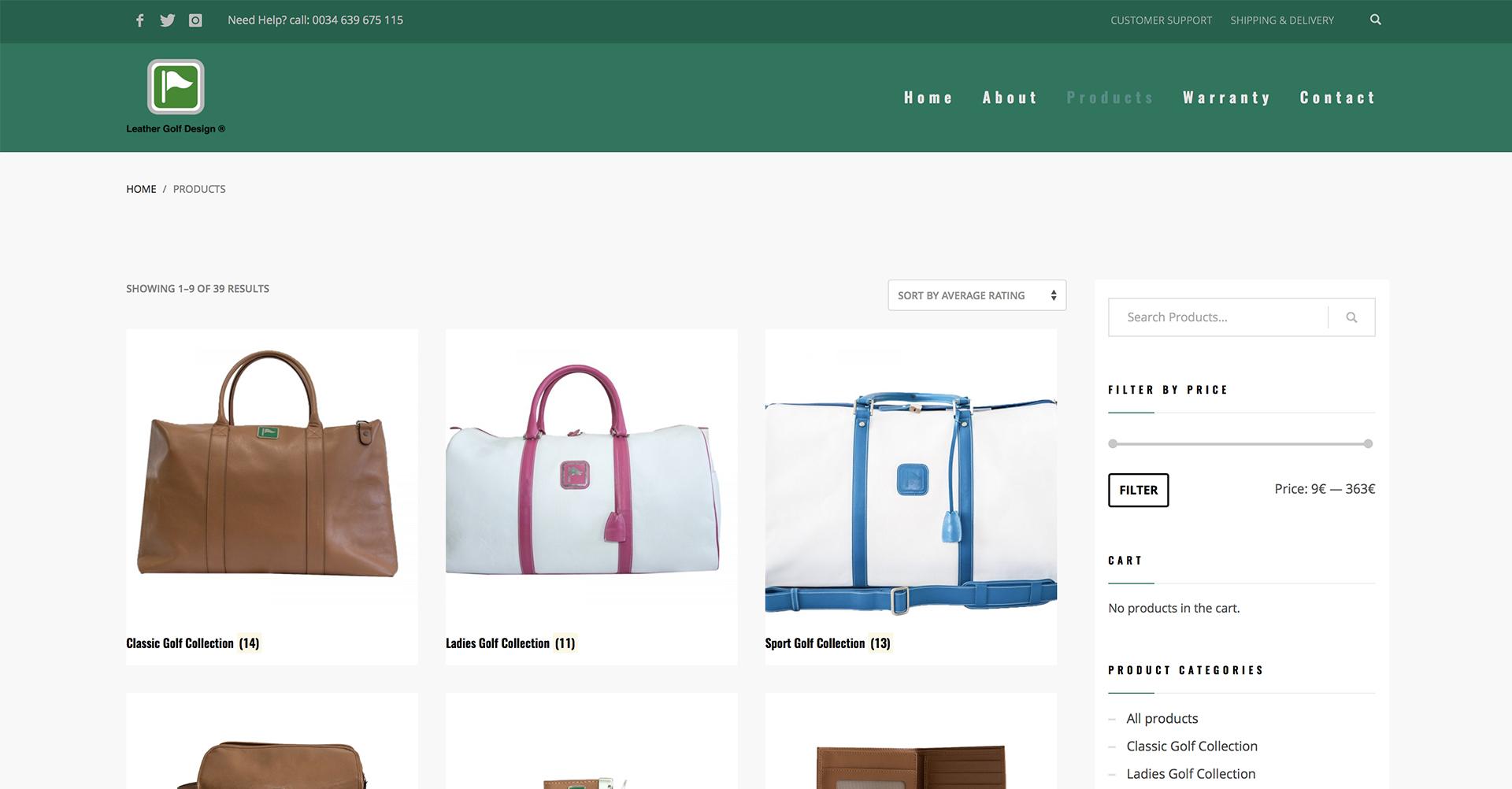 Leather Golf Design | Tienda Web