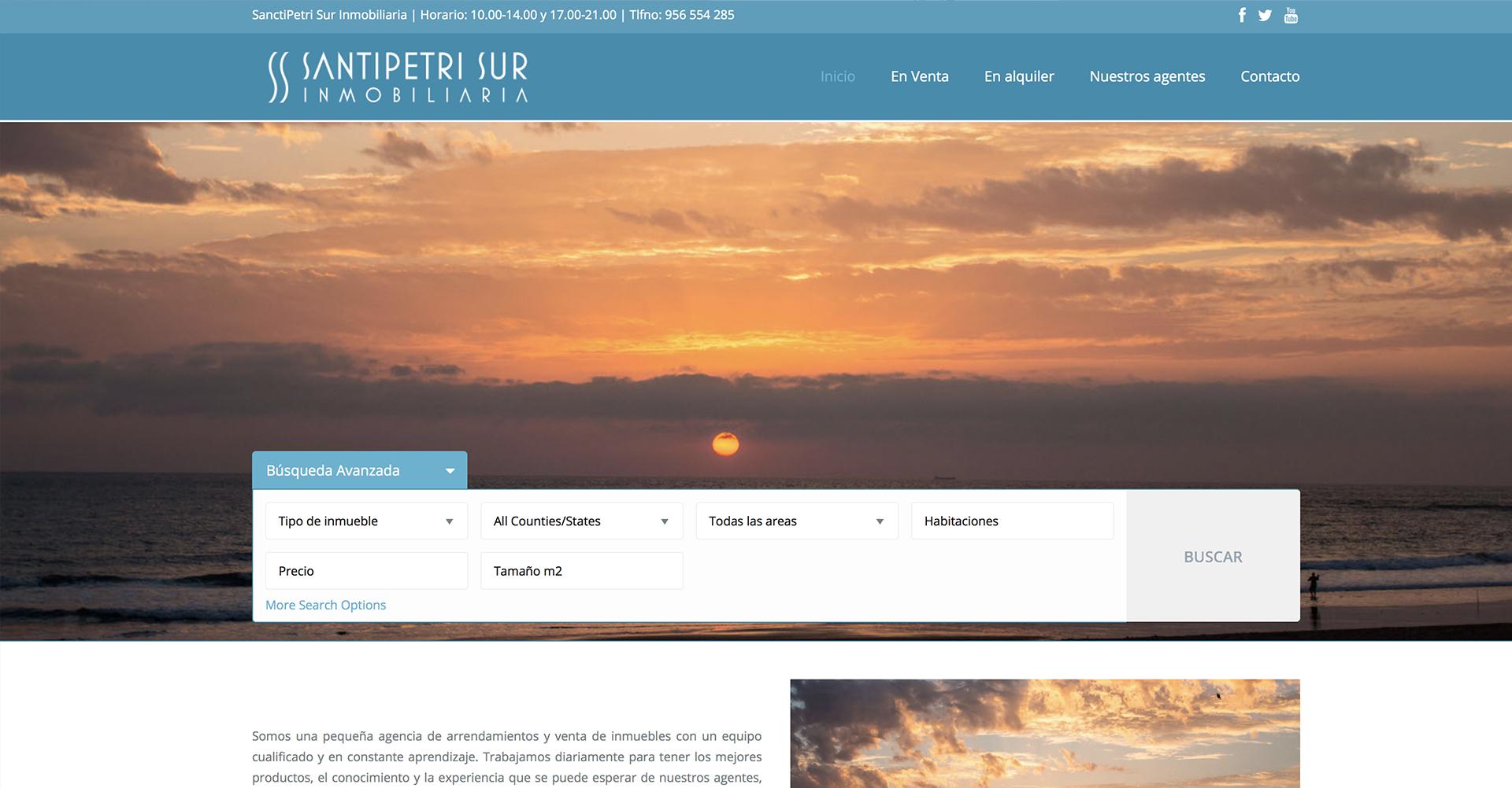 SanctipetriSur Inmobiliaria - Web