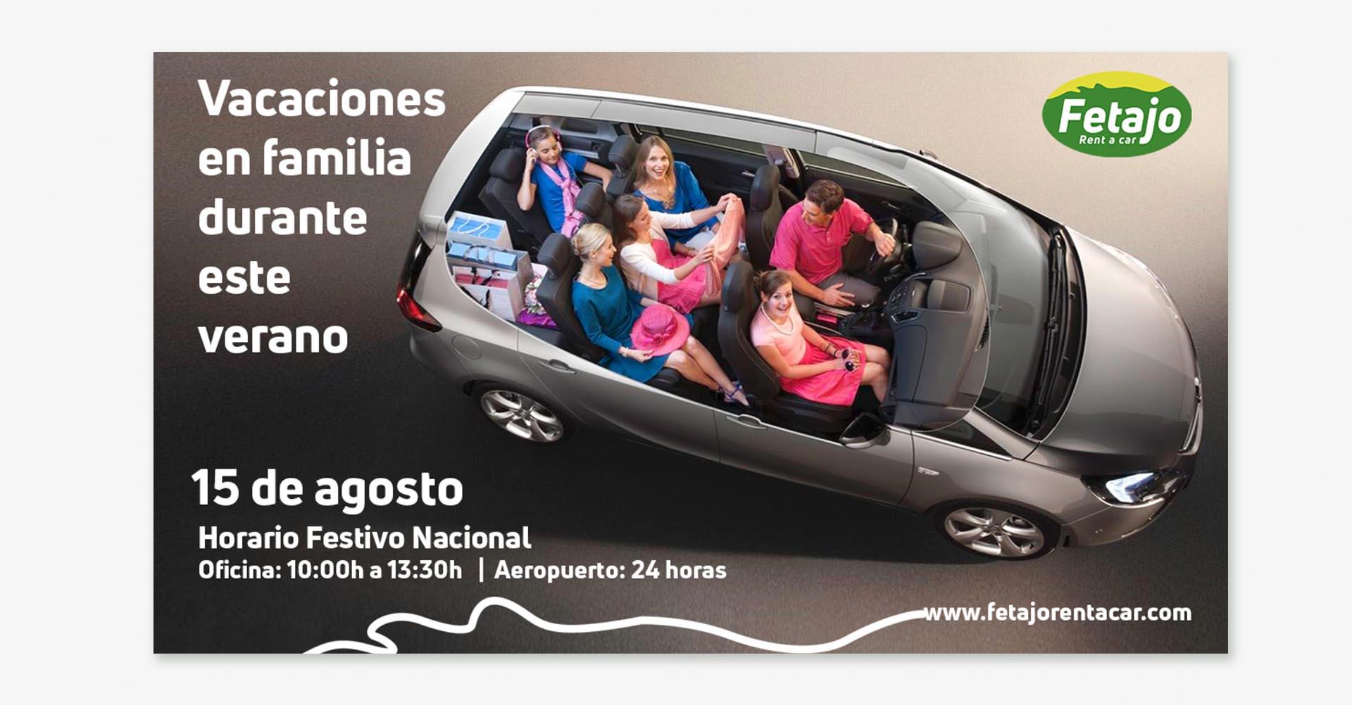 Publicidad Fetajo Rent a Car
